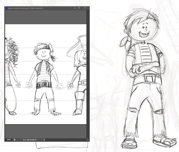 Draw Clean Boy Pirate