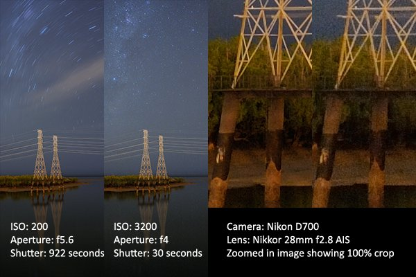 Comparison of the same shot using two different exposure settings