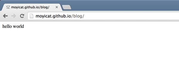 GitHub Page - hello world
