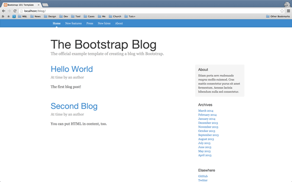 Blogs rendered