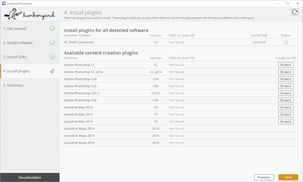 Viewing the available plugins to install