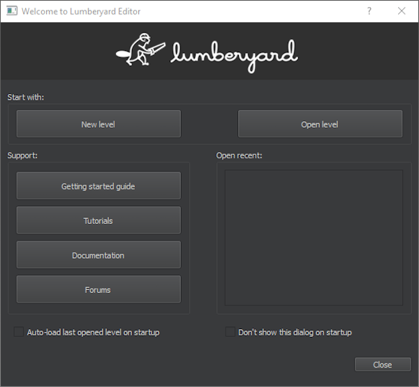 The Lumberyard Editor