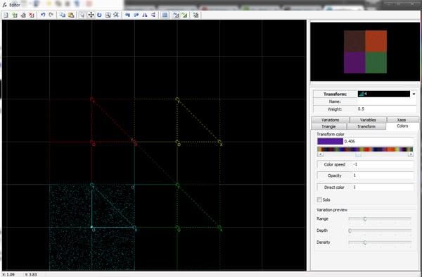 Test fractal setup and completed