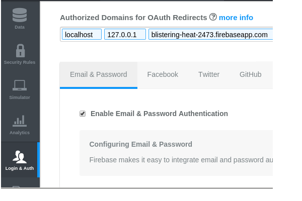 Enable Email  Password Authentication