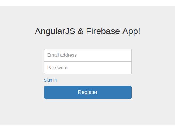 Sign-up screen for AngularJS Firebase App