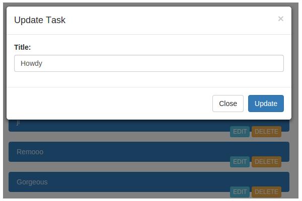 Update Task popup