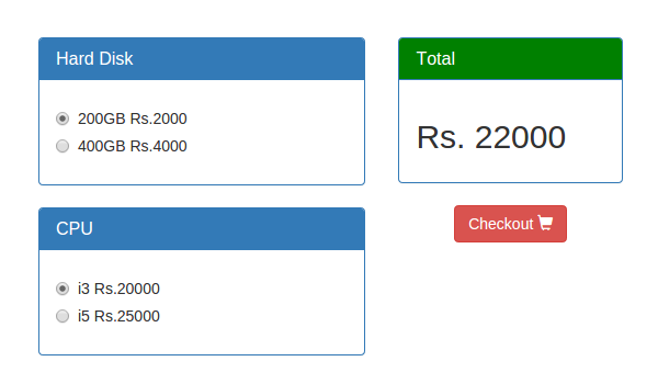 Cart Page With Total