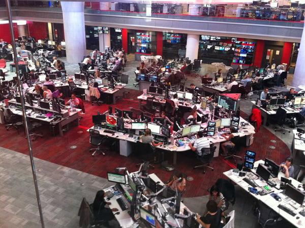 BBC Newsroom British House London England