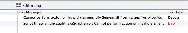 Instruments Error Message Screenshot