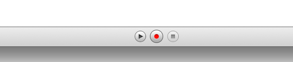 Instruments screenshot showing record button