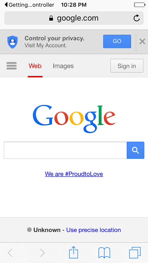 Opening a link in Safari