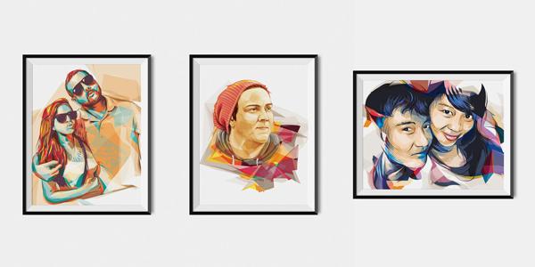 Vector portrait service on Envato Studio