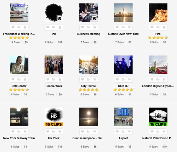 Popular stock footage on Envato Market