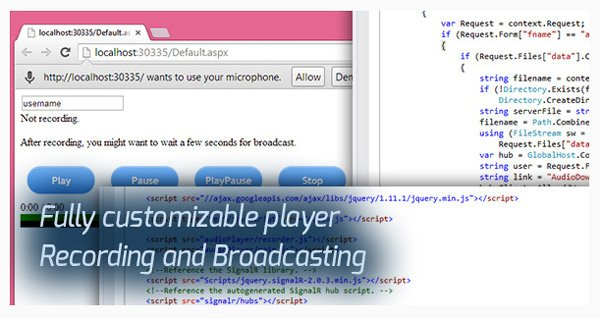 Audio Broadcast HTML5 Recorder and Player on Envato Market