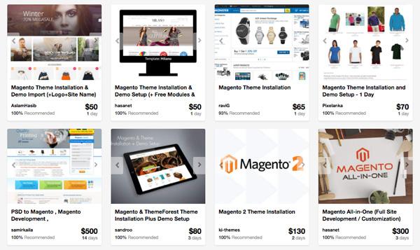 Magento service providers on Envato Studio