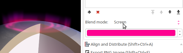 Set the blend mode