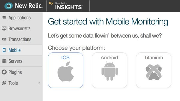 New Relic Mobile Monitoring