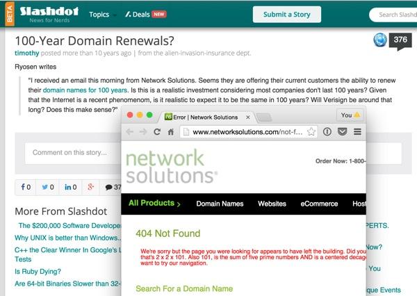 100-year domain renewals