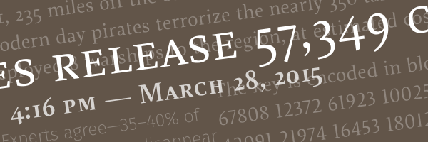 Header image with text and numbers