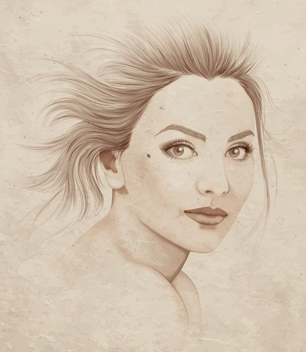 Final result of Advanced Vector Portraits course