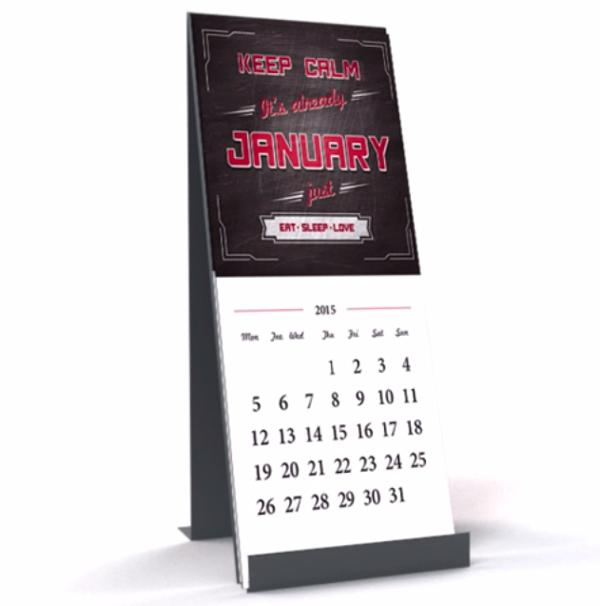 desk calendar created in course