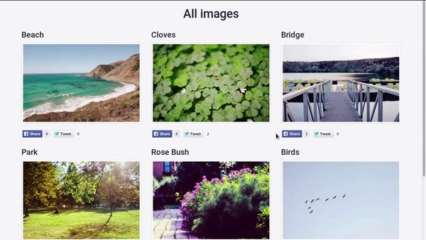 Image gallery created in Ruby