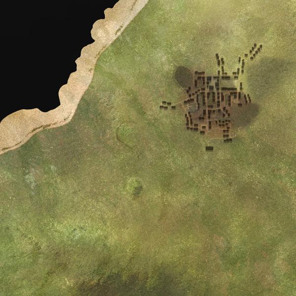 A full-pixel sample of the original island texture