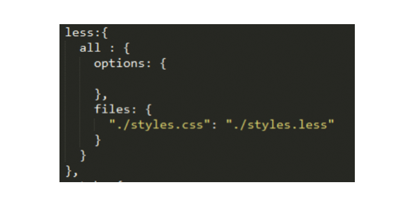 code to add the configuration