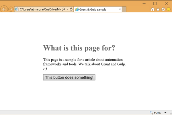 Simple HTML web page