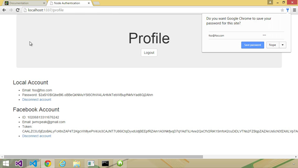 Profile page of the app you will create in the course