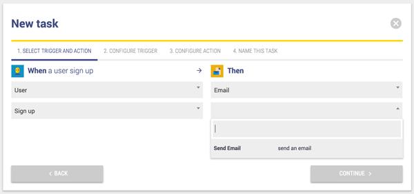 New Task window