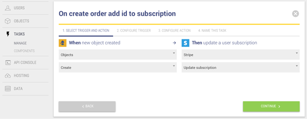 On create order add id to subscription