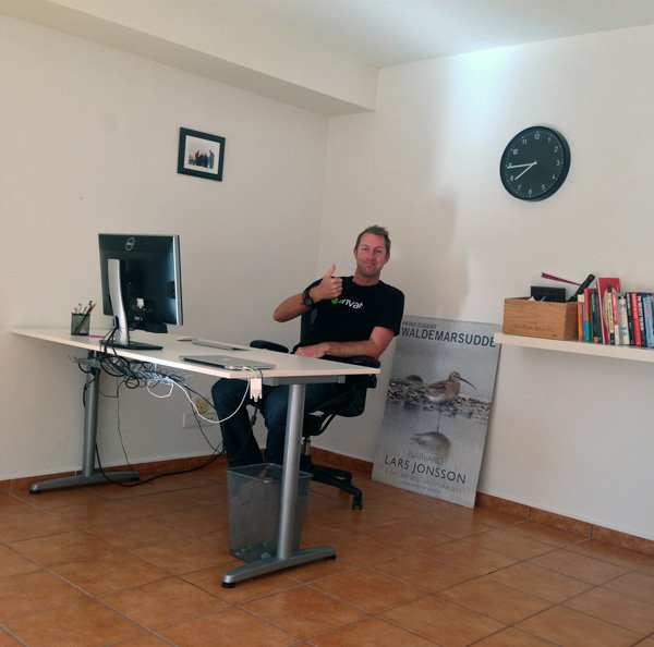 Ian Yates at work