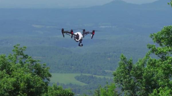 A video drone in flight