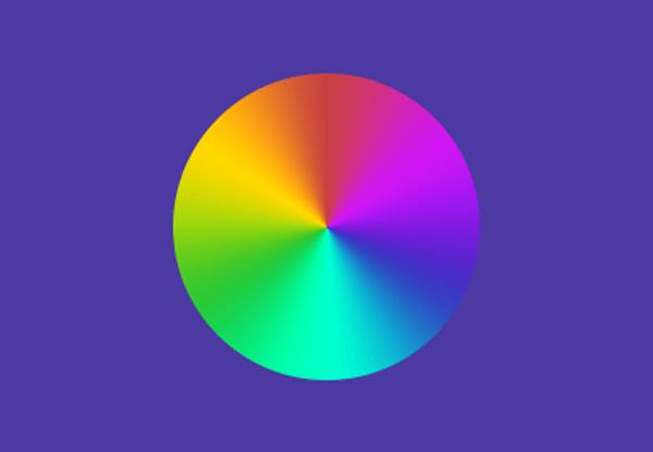 Colour wheel illustration