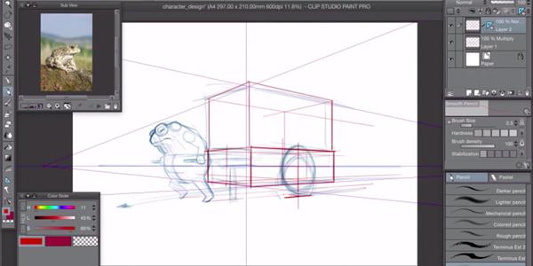 Screenshot from Advanced Manga Studio Techniques course