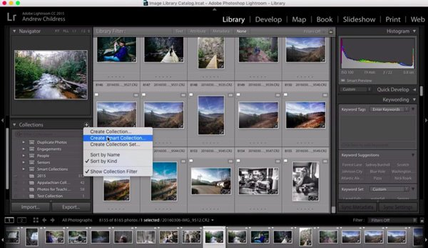 Screenshot from How to Organize Your Images With Adobe Lightroom