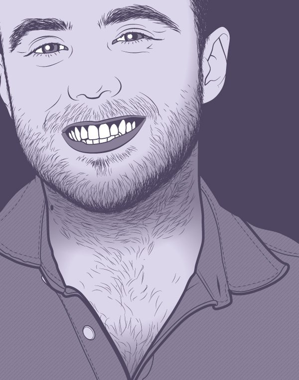 Purple portrait for Spirit Day