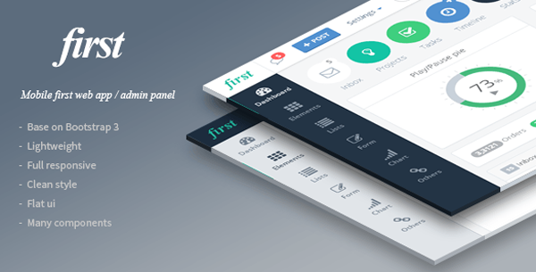 first - Mobile First Web App Theme