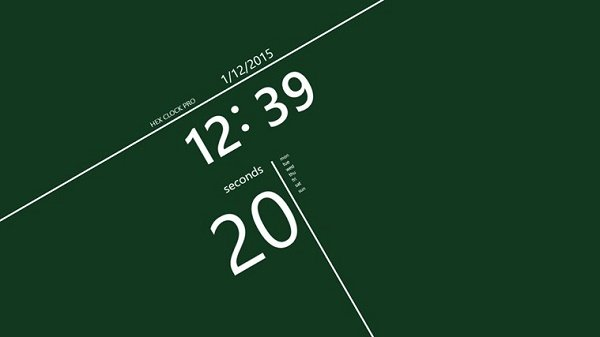 Final image of how hexadecimal clock will look