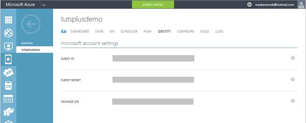 Configure Microsoft account settings