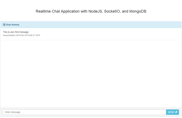 Realtime Chat Application Chat Screen