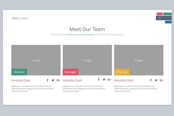 Team Slide Design for Keynote Template