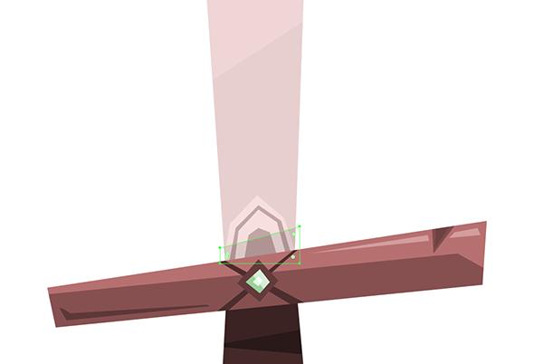 sword blade bottom shadow unmasked
