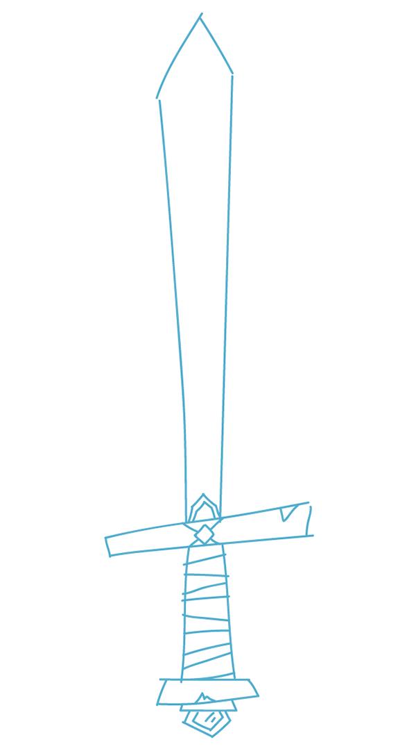 rough sketch of the sword