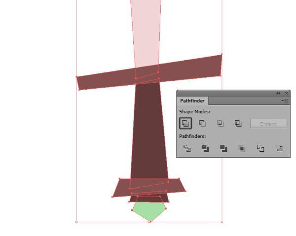 basic shape uniting using pathfinder
