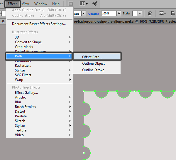 using offset path to create an outline