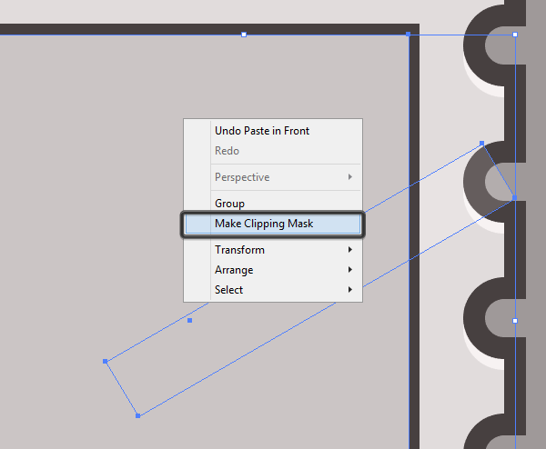 creating a clipping mask for the interfaces reflection