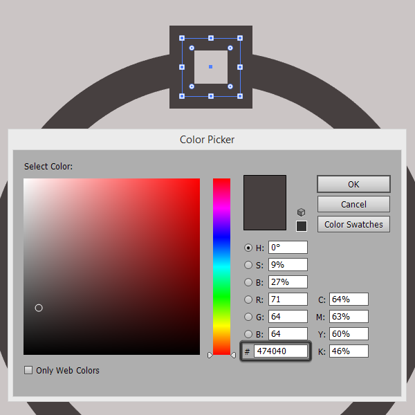 color settings for the circle