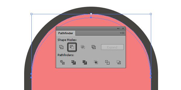 creating the skateboards second highlight using pathfinders minus front